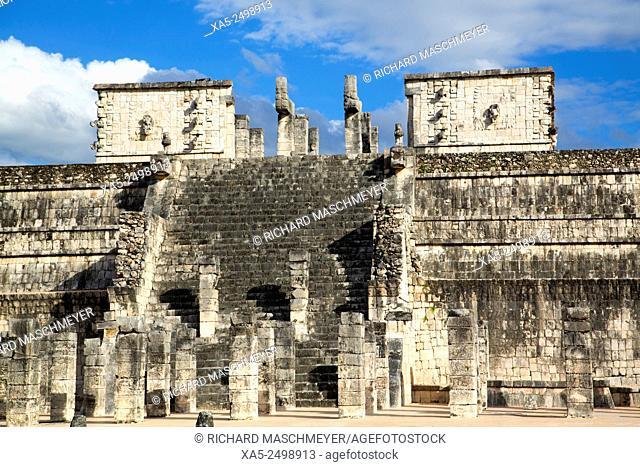 Temple of Warriors, Chichen Itza, Yucatan, Mexico