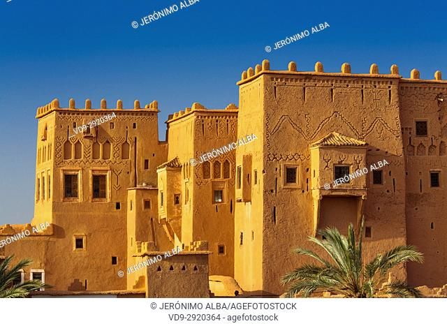 Kasbah of Taourirt Ouarzazate, built by Pasha Glaoui. Unesco World Heritage Site . Morocco, Maghreb North Africa