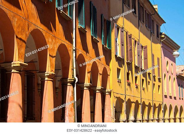 One of the thousands of porticoes of Bologna's old city center