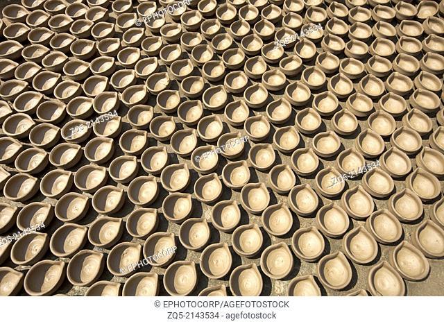 Clay (earthern) lamps. Kumhartoli village, District Ranchi, Jharkhand