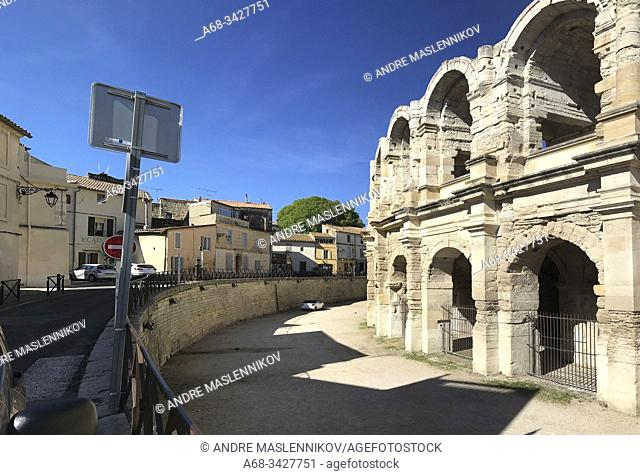 The amphitheater in Arles, Arles, France. . Photo: André Maslennikov