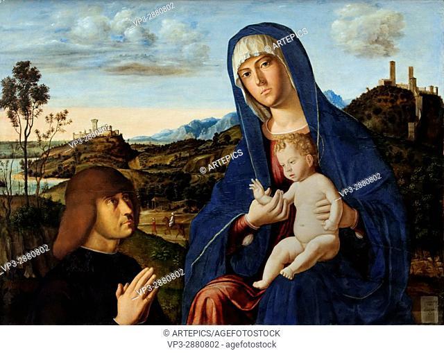 Cima da Conegliano - Mary and the Child and a Donor- XV th Century - Italian School - Gemäldegalerie - Berlin