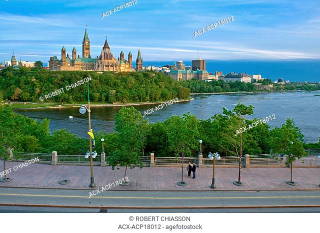 Cityscape including the Houses of Parliament, Ottawa, Ontario, Canada