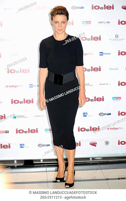 Margherita Buy;buy ; actress; celebrities; 2015; rome; italy; event; photocall ; io e lei