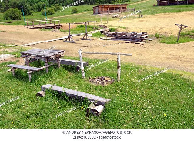 Old Gold mining artel. Settlement Talzy, Irkutsk region, Baikal, Siberia, Russian Federation