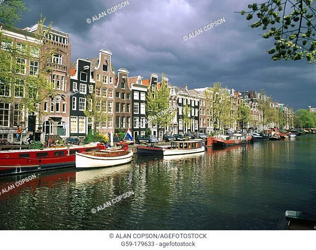 Prinsen Canal. Amsterdam. Holland