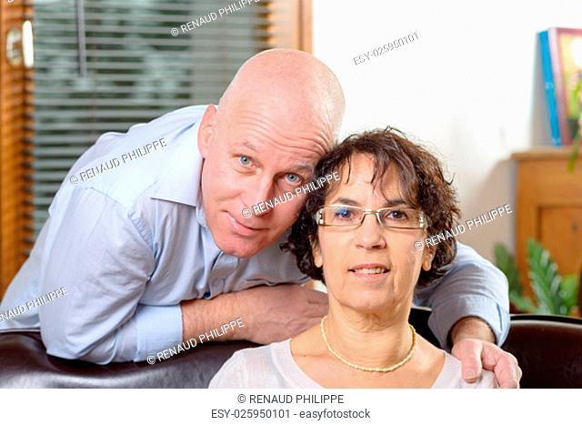 portrait of a senior couple in love