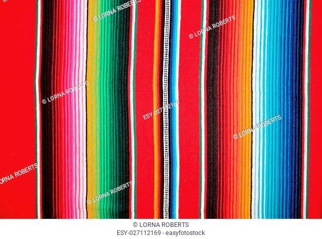 Mexico poncho serape traditional cinco de mayo rug poncho fiesta background with stripes copy space