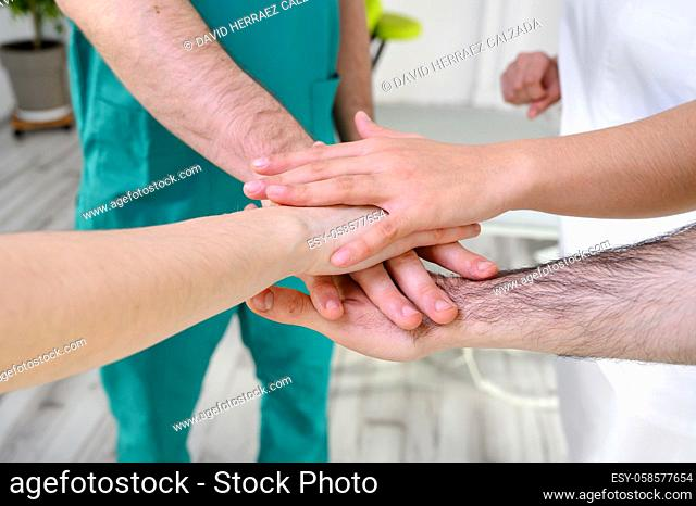 Group of unified healthcare professionals. High quality photo