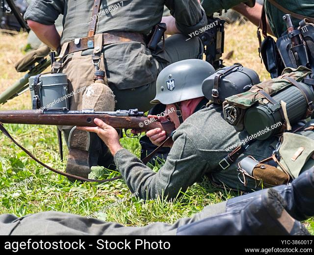 German Army of World war II reincarnation of a battle, Pivka Slovenia 2018, editorial use only