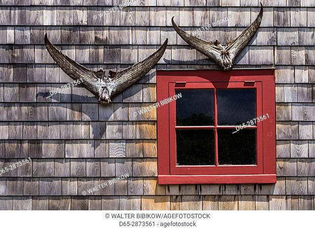 USA, Massachusetts, Cape Ann, Lanesville, lobster shack detail