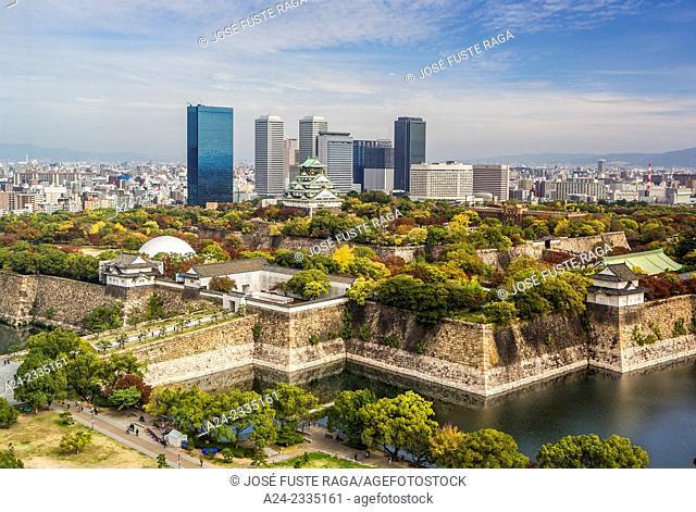Japan , Kansai , Osaka City , Osaka castle