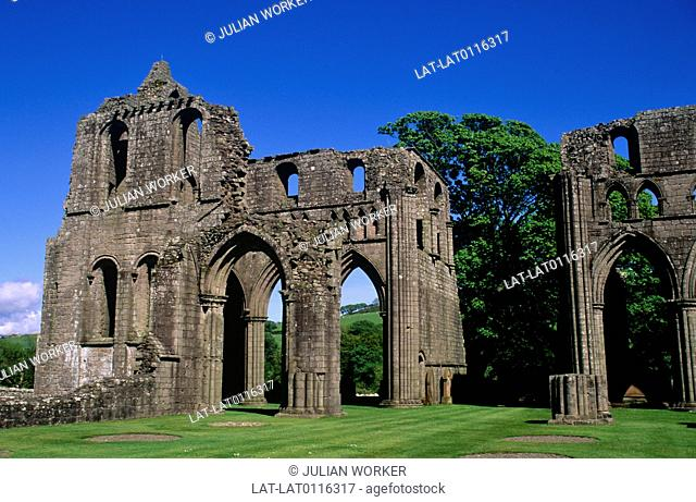 The church at Dundrennan abbey and monastery was a Cistercian foundation in the Gothic style,founded in 142. It was sacked and has been a ruin since the...