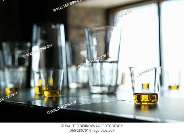 Ireland, Dublin, Smithfield, Irish whisky tasting glasses