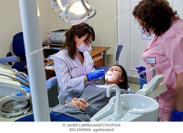 Dentist, PADI, Children's Dental Assistance Program, Gros Health Center, Hospital Donostia, San Sebastian, Gipuzkoa, Basque Country, Spain