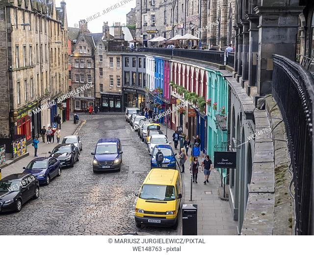Victoria Street in the Old Town, Edinburgh has to be one of the most photographed locations in the city