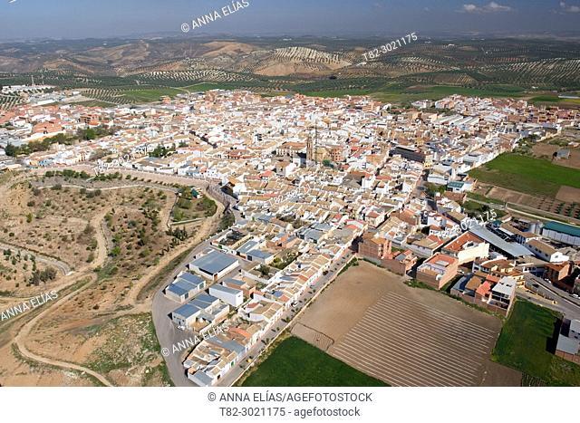 aerial view Palenciana, Cordoba, Andalucia, Spain Europe