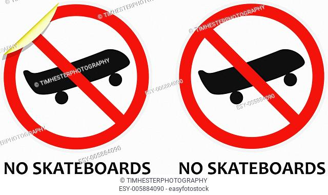 No Skateboards Sign