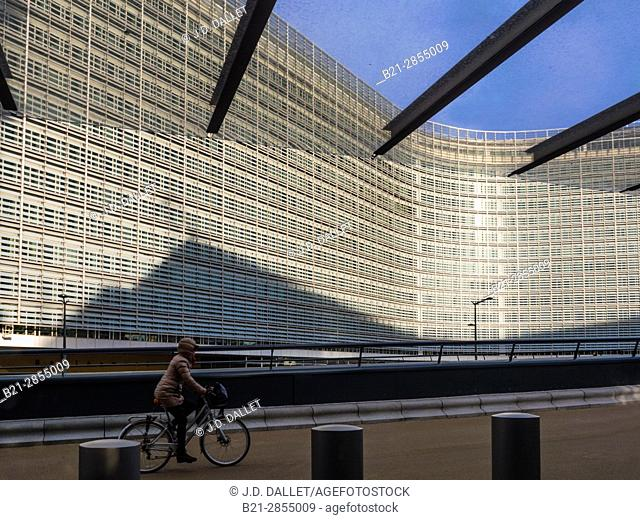 "Belgium. Brussels. ""Berlaymont"" European Comission building, Schumann's area"