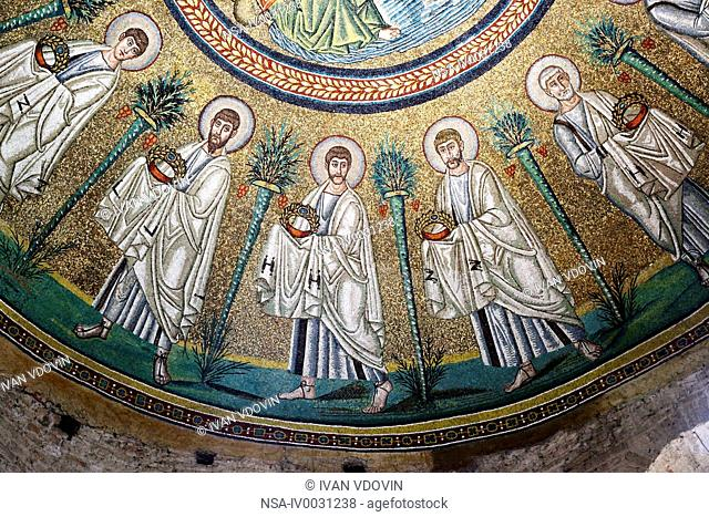 Mosaic in Arian Baptistry, UNESCO World Heritage site, Ravenna, Emilia-Romagna, Italy