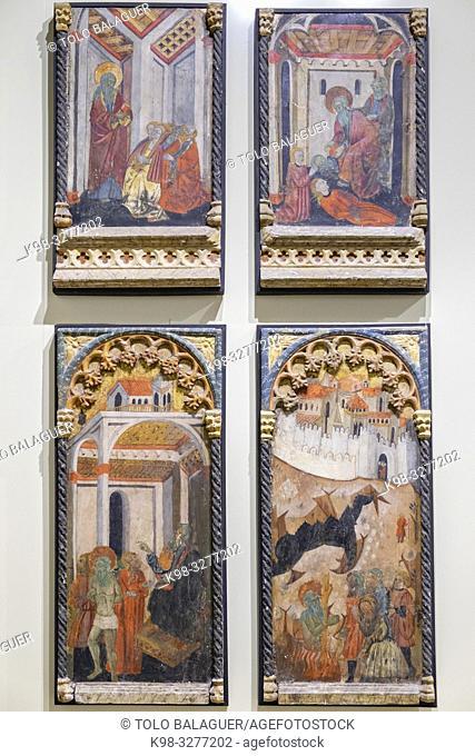 Retablo de San Bernabe, autor desconocido, siglos XIV-XV, pintura sobre tabla, Museo Diocesano de Salamanca, Catedral Vieja, Salamanca
