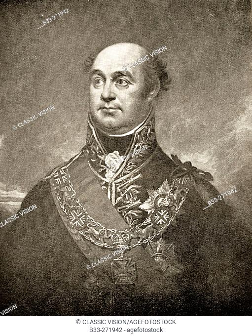 Sir William Beresford (1768-1854). Viscount of Albuera. British General. From an engraving after the painting by Sir William Beechey