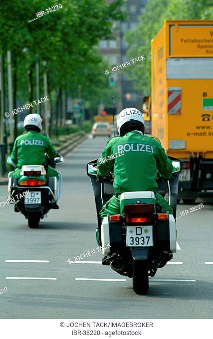 DEU, Germany, Duesseldorf : Police bike patrol