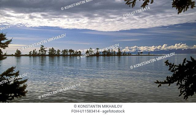 Baikal, East Siberia, Eatern Siberia, Siberia, clouds, islets, lake