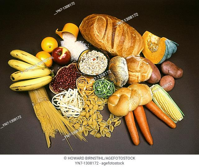 stock shot of foods which contain carbohydrate