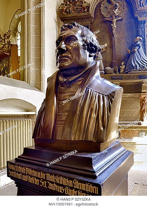 Luther bust, St. Andreas Church, Eisleben, Saxony-Anhalt Germany