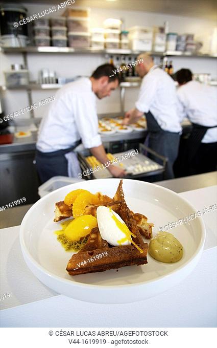 2 star Michelin restaurant t Zilte on the ninth floor of the museum, Antwerp, Flanders Belgium