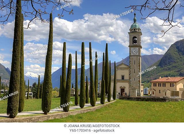 Sant'Abbondio, Montagnola, Collina d'Oro, Ticino, Switzerland
