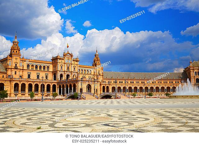 Seville Sevilla Plaza de Espana in Andalusia Spain square