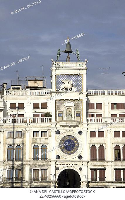 Venice, Veneto, Italy: St Marks square. St. Mark's Clock Tower