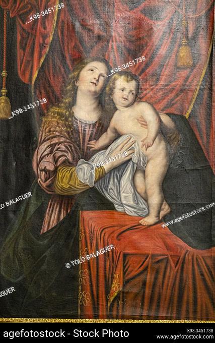 virgen con el niño, sala rectoral, Real Colegio de Doncellas Nobles, Toledo, Castilla-La Mancha, Spain