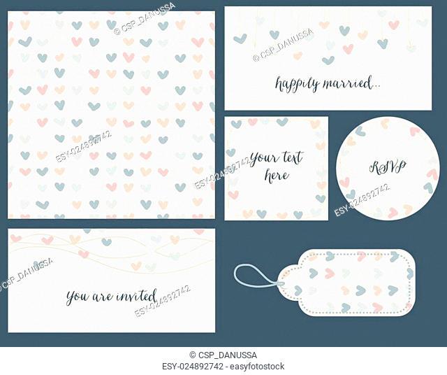 Wedding set hearts design