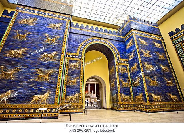 Ishtar Gate of Babylon, Pergamon Museum, Museum Island, Berlin, Germany, Europe