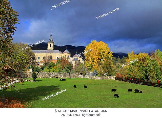 The monastery of Santa María de El Paular is placed in the heart of the Lozoya Valley near Rascafría (Madrid autonomous region)