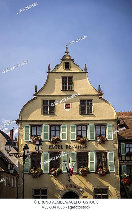 Town hall of Turckheim (department of Haut-Rhin, region of Grand Est, France)
