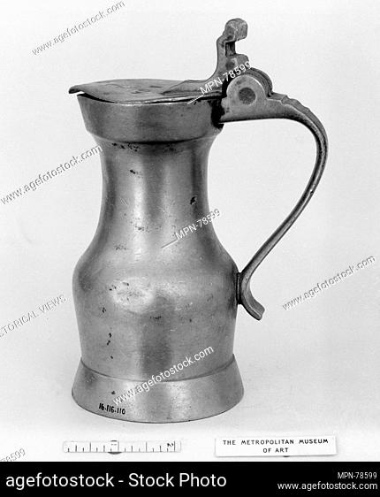 Measure. Date: 18th century; Culture: French; Medium: Pewter; Dimensions: 6 x 3 1/4 in. (15.2 x 8.3 cm); Classification: Metalwork-Pewter; Credit Line: Gift of...