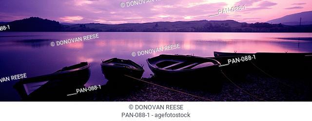 Fishing boats, Lock Awe, Scotland