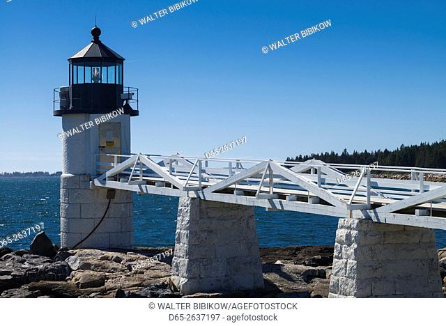 USA, Maine, Port Clyde, Marshall Point Lighthouse