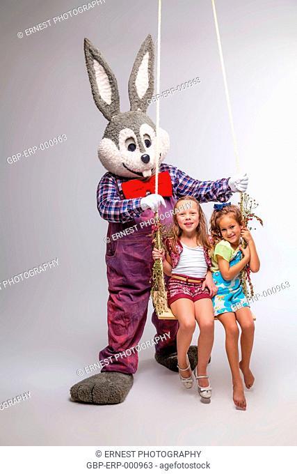 childs, girls, 6 years, doll, plush, rabbit