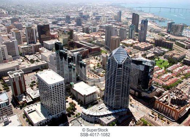Aerial Downtown San Diego