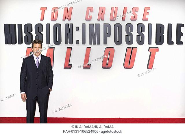 Tom Cruise attends MISSION: IMPOSSIBLE - FALLOUT , UK Premiere. London, UK. 13/07/2018 | usage worldwide