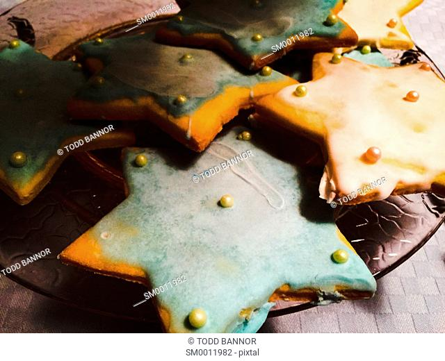 Hanukkah cookies shaped like Star of David