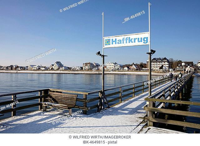 Pier, baltic sea coast, Haffkrug, Scharbeutz, Lübeck Bay, Schleswig-Holstein, Germany