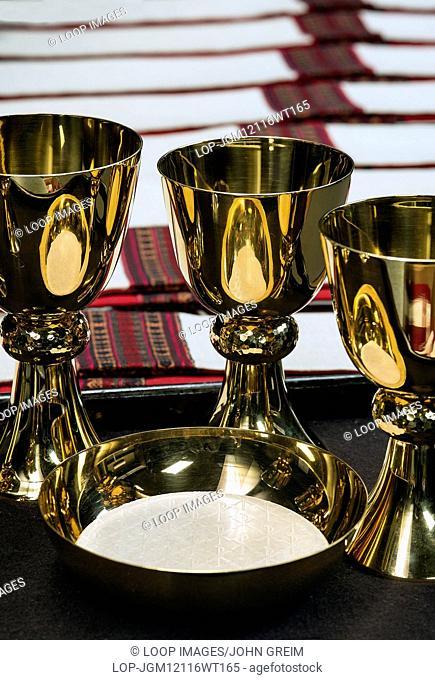 Sacristy preparation for the celebration of a catholic mass