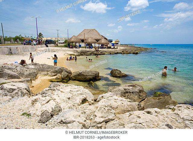 Rocky beach, Cozumel, Mexico, Caribbean