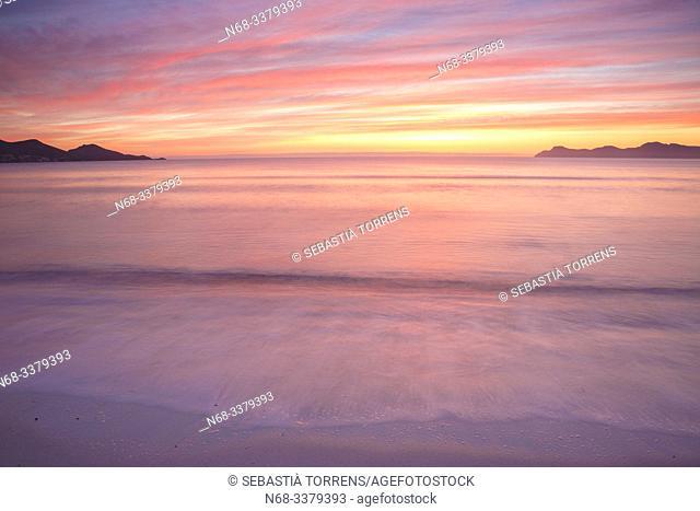 Alcudia bay at dawn, Majorca, Spain